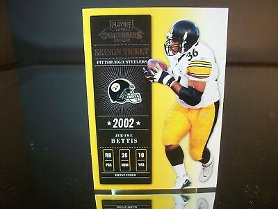 Jerome Bettis Playoff Season Ticket 2002 Card #24 Pittsburgh Steelers NFL