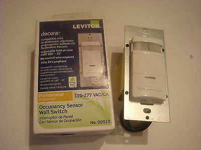 Leviton Occupancy Sensor Wall Switch R52-ods10-ihw Never Used