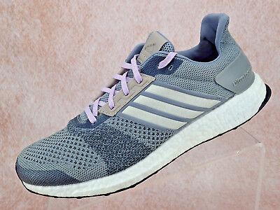 0b94ee4d60530 Adidas Ultra Boost ST Athletic Running AF6524 Grey Purple Glow Women Shoe  Sz 9.5