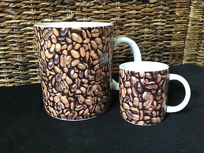 Starbucks 2007 Tea Coffee Bean Mug Cup And Espresso Set