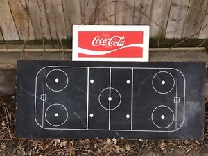 Vintage Hockey Rink Chalk Board