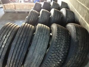 265/70R19.5 Tires on Rims.  FE Hino. Car Carrier etc. Pottsville Tweed Heads Area Preview