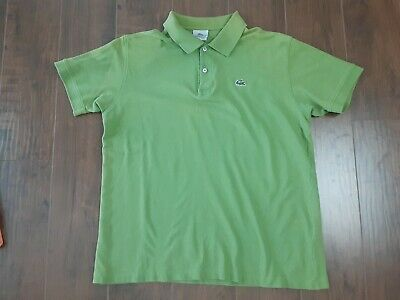 Lacoste Men's Polo Shirt Size 7 Avocado Green 2XL