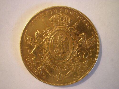 1866 MEXICO 20 PESOS MAXIMILIANO (DOLLARS) GOLD COIN RARE