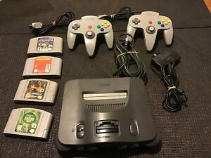 N64, 4 games, 2 controllers, cords