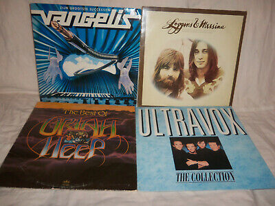 Lot of 4 Best Of LP's, Loggins & Messina, Ultravox, Uriah Heep, and