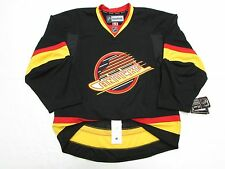 VANCOUVER CANUCKS AUTHENTIC RETRO BLACK FLYING SKATE REEBOK EDGE 2.0 7287 JERSEY
