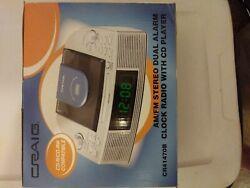 Craig AM/FM Stereo Dual Alarm Clock Radio W/CD Player