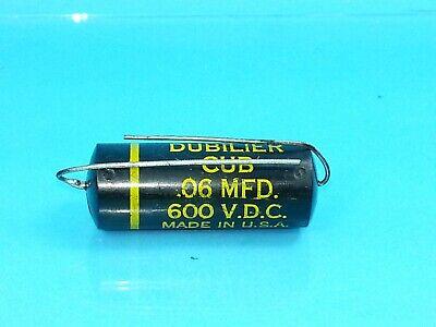 CORNELL DUBILIER .06 UF 600 V VOLT PIO CAPACITOR BEST TONE CAP EVER GUITAR