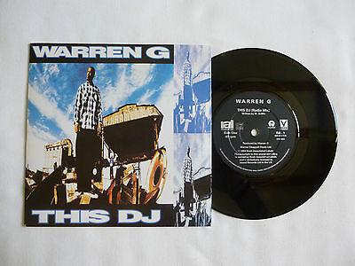 "WARREN G ~ THIS DJ 7"" VINYL ~ NEAR MINT ~ '94 UK ORIGINAL ~ RARE HIP HOP CLASSIC"