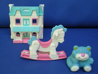 Fisher Price Loving Family Nursery Baby Dollhouse Rocking Horse/Bear HTF lot/set