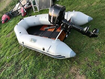 Boat inflatable Soago  2.4 with mariner 4 hp four stroke outboard