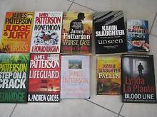 10 XBOOK JAMES PATTERSONKARYN SLAUGHTER, LYNDA LA PLANTE New Beith Logan Area Preview