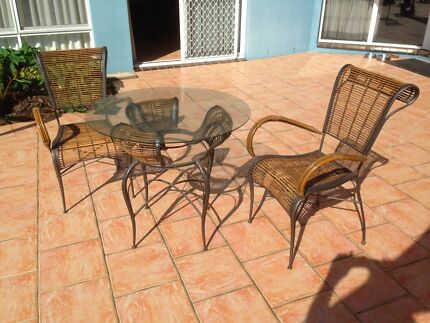 Outdoor/Indoor Glass Table & 2 Chairs Ballina Ballina Area Preview