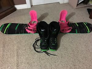 Snowboard Set up(board, binding, boots)