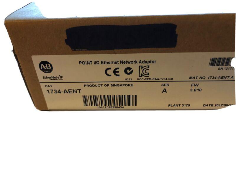 New Allen Bradley 1734-AENT /A ENet/IP TP Media I/O Adapter 24V DC