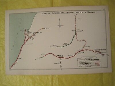 1904 RAILWAY CLEARING HOUSE Junc Diagrams.No 95. BRIGHAM,COCKERMOUTH,LINEFOOT.