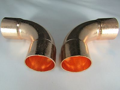 Copper Fitting Elbow-90 Degree- 1 38-short Radius-2 Pieces