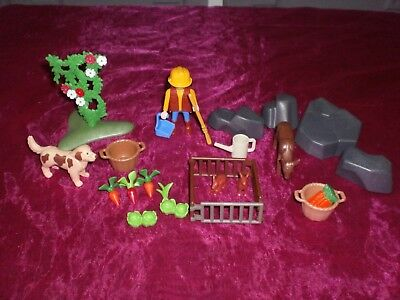 LOT jouets PLAYMOBIL N°3............. ELEVAGE LAPINS ET POTAGER.......