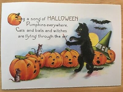 POSTCARD UNUSED HALLOWEEN -IT'S HALLOWE'EN EARLY 20th CENTURY REPRO - Early Century Halloween