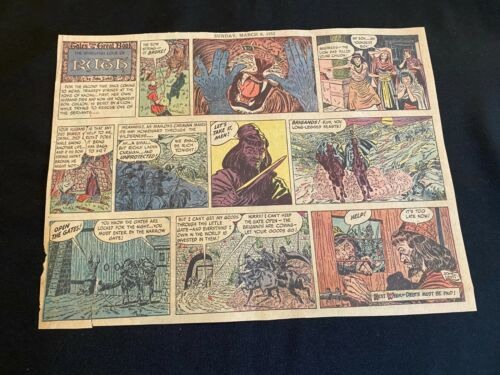 #16 TALES FROM THE GREAT BOOK by John Lehti Lot of 5 Sunday Half Pages 1955