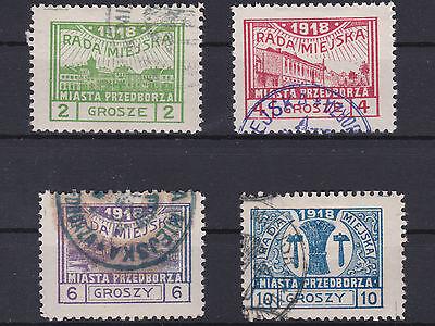 Polen 1918 Lokalausgabe Przedvorz 7 - 10 A Gestempelt € 104,-- ANSEHEN / LESEN