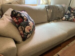 Heather Grey 3 seater couch