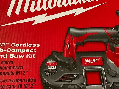Milwaukee M12 Fuel 2429-20 Sub-compact Band Saw New W Hard Case No Battery