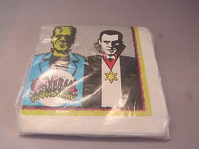 Universal Studios Monsters Frankenstein  Dracula Beverage Napkins Mip 1991