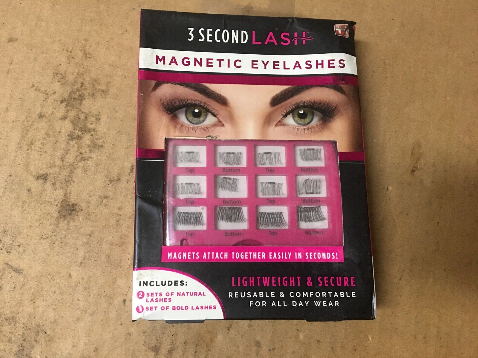 3 Second Lash MAGNETIC EYELASHES As Seen On TV Reusable 3 Se