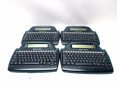 Lot Of 4 Alphasmart 3000 Laptop Keyboard Word Processor