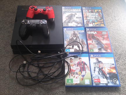 PS4 500GB+2 Controller+6 Games
