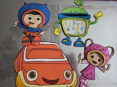 Set of 4 Team umizoomi foam figures, great for centerpiece decoration  (Team Umizoomi Party Decorations)