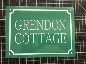 PERSONALISED House Name / Number METAL SIGN ANY COLOUR AND TEXT (Perfect gift)