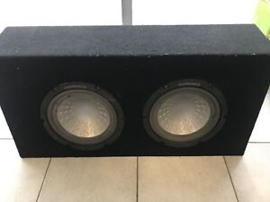 """10"""" Subwoofers with Kicker Amp 1000Watts"""