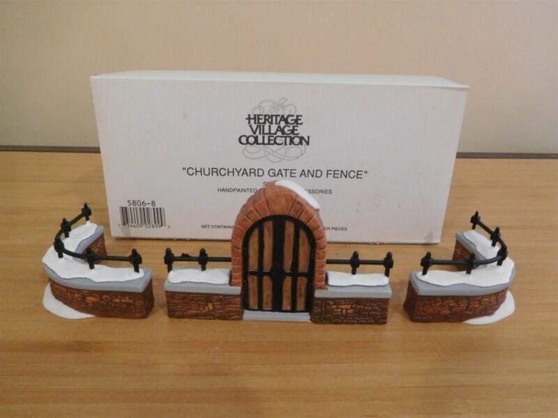 Dept 56 Dickens Village - Churchyard Gate & Fence - 3 Pc Set - Free Shipping