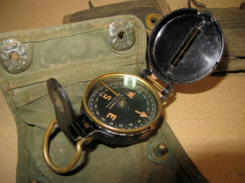 WW2 US Lensatic Compass W.&L.E. Gurley Troy NY Engineers Corps NCO