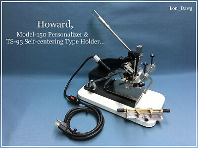Howard Machine Model 150 Personalizer Hot Foil Stamping Machine