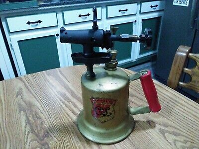 Vintage Clayton and Lambert Brass Blow Torch Wood Handle