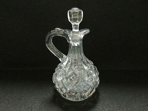 EAPG Nickel Plate Glass Co. Richmond/Bars & Buttons/Akron Block Cruet (1890)