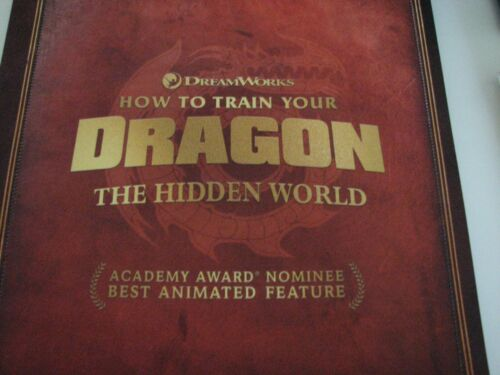 HOW TO TRAIN YOUR DRAGON Hidden World FYC Oscar Ad Pressbook Booklet NEW
