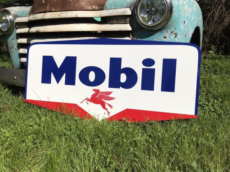 Antique Vintage Old Style Mobil Sign