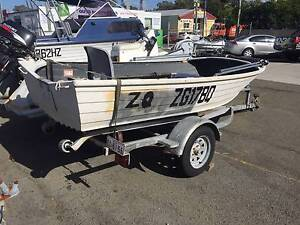 12' Stacer Riviera Alloy Boat on Galvanized Trailer Southport Gold Coast City Preview