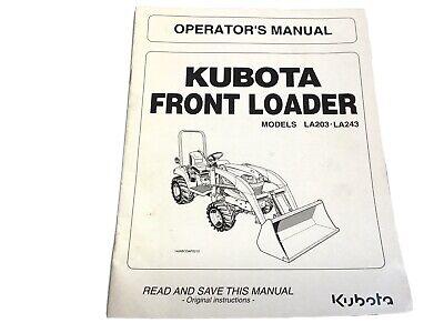 Kubota La203 La243 Front Loader Operators Manual