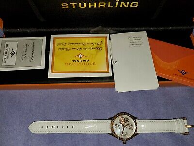 STUHRLING ORIGINAL AUTOMATIC TIME SKELETON WATCH NEW ST-90089