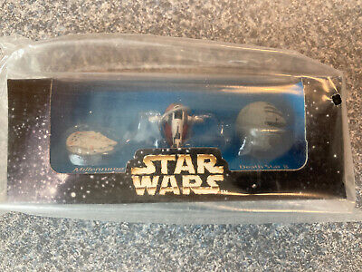 STAR WARS Micro Machines Movie Promo 1996 Exclusive Galoob Set Sealed In Plastic