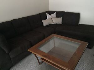 "Glass & Wood Coffee Table 40"" x 40"""