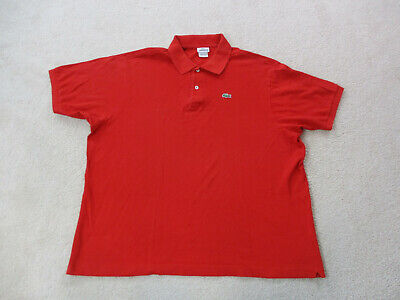 Lacoste Polo Shirt Adult 2XL XXL Size 9 Red Green Casual Rugby Crocodile Mens *