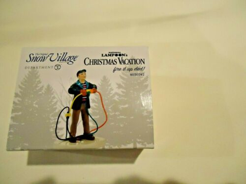 Dept 56 National Lampoons Christmas Vacation Fire it up dad Snow Village