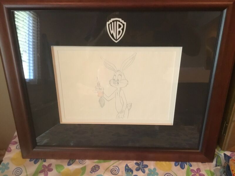 Vintage 1960's Bugs Bunny Production Drawing By Robert McKimson